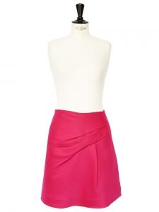 Jupe en laine et soie rose fuchsia NEUVE Px boutique 650€ Taille 36