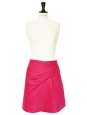 Fuchsia pink wool and silk skirt Retail price €650 Size 36