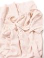 Short sleeves round neckline light pink linen dress Size XS