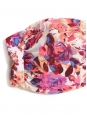 Pink, purple and white floral print bandeau bikini top Size 38
