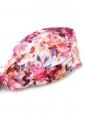 Maillot de bain bikini bandeau imprimé fleuri rose blanc et violet Taille 38