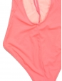THE WILLOW neon pink deep V neckline and open back one piece swimsuit NEW Size S