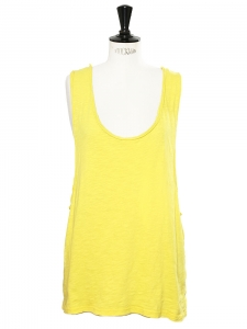 Sunny yellow cotton BIGY oversized tank top Retail price €115 Size 40