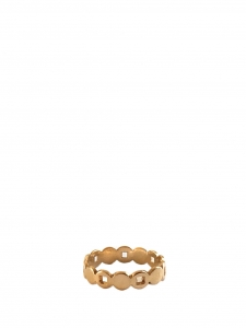 Adjustable gold plated ring