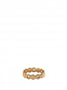 Bague anneau plaqué or ajustable