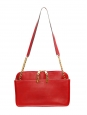 Large LUCY Bright rubis red leather shoulder bag Retail price €2500