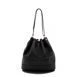 MARKET Black Togo lambskin leather bucket bag Retail price €3300