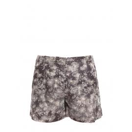 Short en soie imprimé fleuri gris et crème Prix boutique 450€ Taille 34