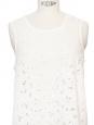 White cotton lace sleeveless top Retail price €495 Size 36