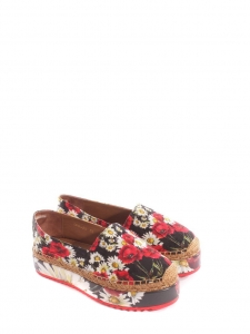 Flower printed brocade platform espadrilles NEW Retail price €639 Size 35