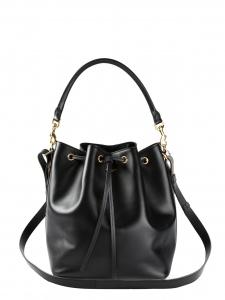 Sac seau Emmanuelle medium en cuir noir Prix boutique 1450€