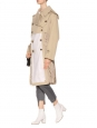 Bottines MARGAUX 65 à talon en cuir verni blanc ivoire Prix boutique $995 Taille 38,5