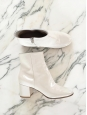 MARGAUX 65 ivory white leather ankle boots Retail price $995 Size 38.5
