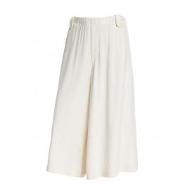 Pantalon court évasé cropped en crêpe blanc Prix boutique $468 Taille 34 à 36