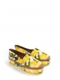 DOLCE & GABBANA Lemon yellow, green and white citrus print brocade platform espadrilles Size 40