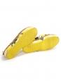 DOLCE & GABBANA Espadrilles plates-formes en brocart blanc imprimé citron jaune et vert Taille 40