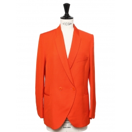 Bright orange blazer jacket Retail price €1100 Size 34