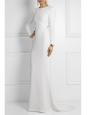 Renee open-back white stretch-crepe wedding gown Retail price €2695 Size 36