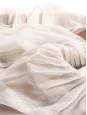 Jupe taille basse en soie plissée blanc écru irisé argent Prix boutique 1500€ Taille 38/40