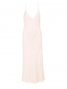V neck light pink satin tank slip dress Retail price $425 Size 38