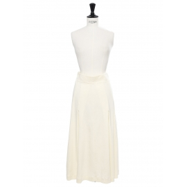 Cream white jersey high waist maxi skirt Retail price €600 Size 34