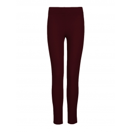 Burgundy red stretch gabardine leggings Retail price €215 Size XS
