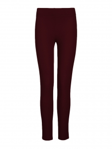 Burgundy red stretch gabardine leggings Retail price €215 Size XS