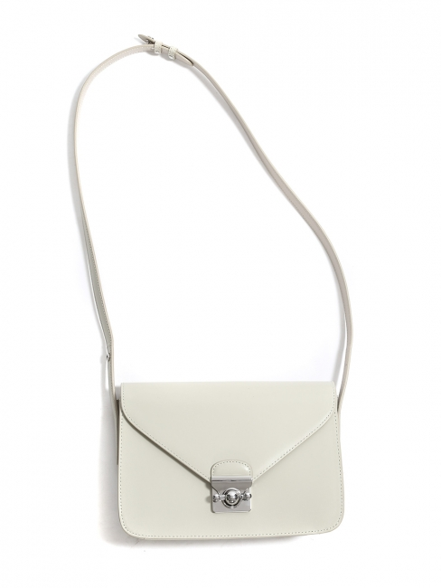 Balance Collection ENVELOPE beige white leather Shoulder bag Retail price $349
