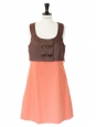 Summer 2007 brown and orange cotton sleeveless dress Retal price 2000€ Size 40
