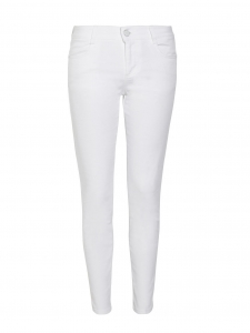 Jean Simone slim fit court en coton organique blanc Px boutique 225€ Taille 25 (XSmall)