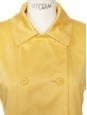 Manteau trench en coton jaune bouton d'or Taille 34