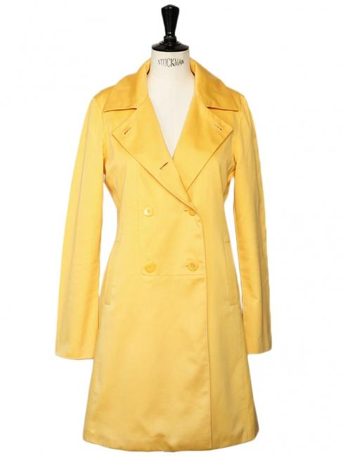 Manteau trench en coton jaune bouton d'or Prix boutique 450€ Taille 36