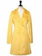 Buttercup yellow cotton trench coat Size 36
