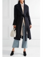 CARICE navy cashmere and wool oversized belted coat Retail price €1200 Size 38