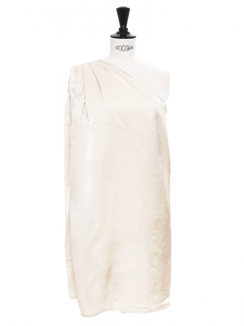 Louise Paris - ACNE STUDIOS Cream beige satin one-shoulder