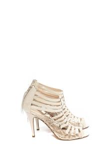 Sandales stilettos multi brides en cuir écru NEUVES Prix boutique 700€ Taille 37,5