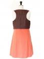 Rare robe en coton marron et rouge orange été 2007 Px boutique 2000€ Taille 40
