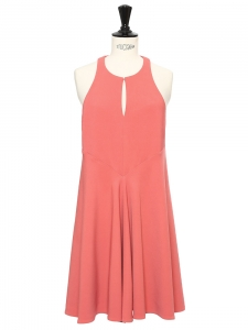 Honeysuckle pink jersey sleeveless fit and flare dress Retail price €600 Size XS