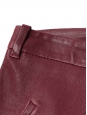 Burgundy red leather jegging slim pants Retail price €1100 Size 40