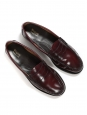 GH Burgundy red glazed leather loafers Retail price €175 Size 39