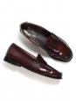 Mocassins GH en cuir glacé rouge bordeaux Prix boutique 175€ Taille 39
