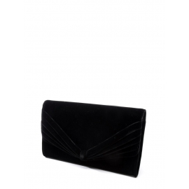 Black velvet evening clutch bag Retail price €800