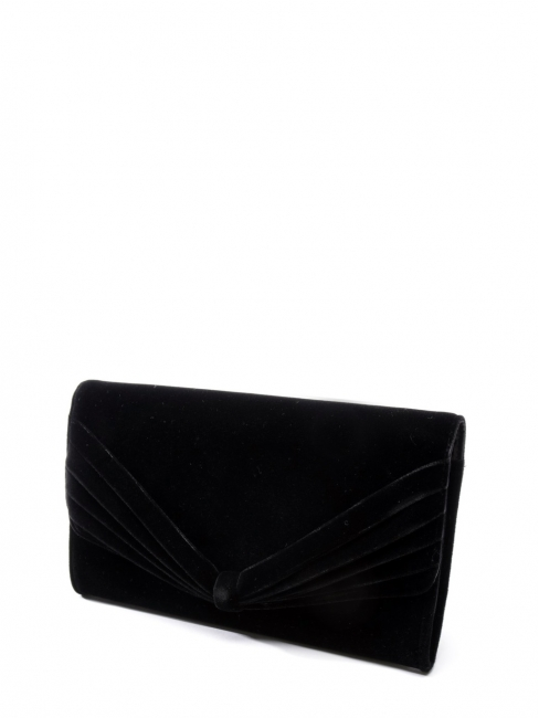 Sac pochette du soir (clutch) en velours noir Prix boutique 800€