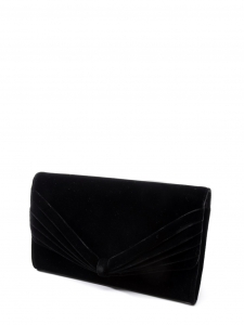 GIORGIO ARMANI Black velvet evening clutch bag Retail price €800