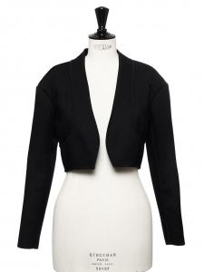 Veste blazer court en tweed noir NEUVE Prix boutique 1000€ Taille 36