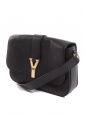 CHYC large flap black leather shoulder bag Retail price $1300
