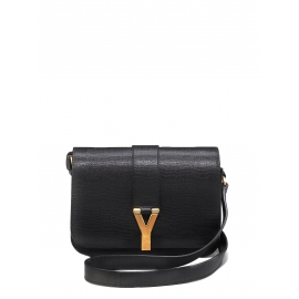 CHYC large flap black leather shoulder bag Retail price €1300