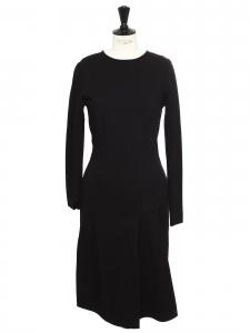 Robe manches longues près du corps en jersey stretch noir NEUVE Prix boutique 800€ Taille 38