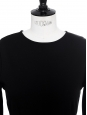 Black stretch jersey bodyconlong sleeves dress NEW Retail price €800 Size 38