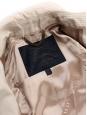 Trench mi-long en coton beige crème et manches en cuir noir Prix boutique $2795 Taille 36